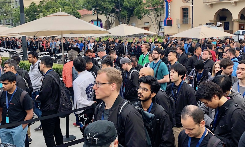 Waiting in line for Keynote WWDC 2019